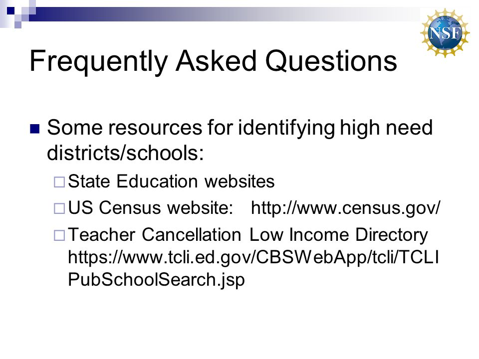 Frequently Asked Questions Does NSF have a standard form for student agreements.