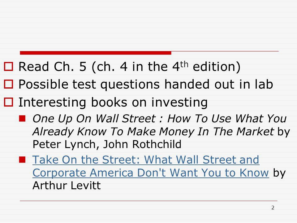 2  Read Ch. 5 (ch.