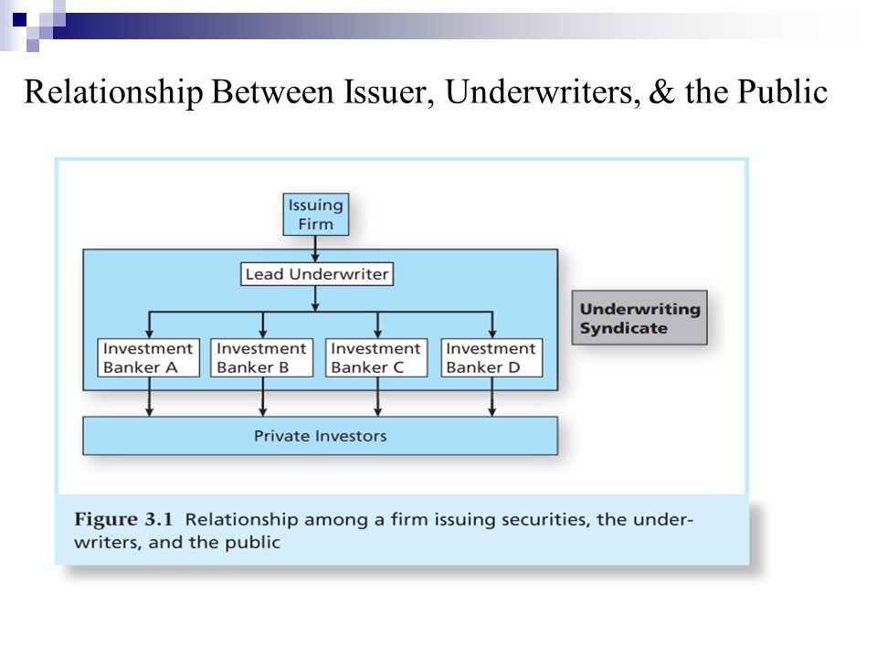 Relationship Between Issuer, Underwriters, & the Public