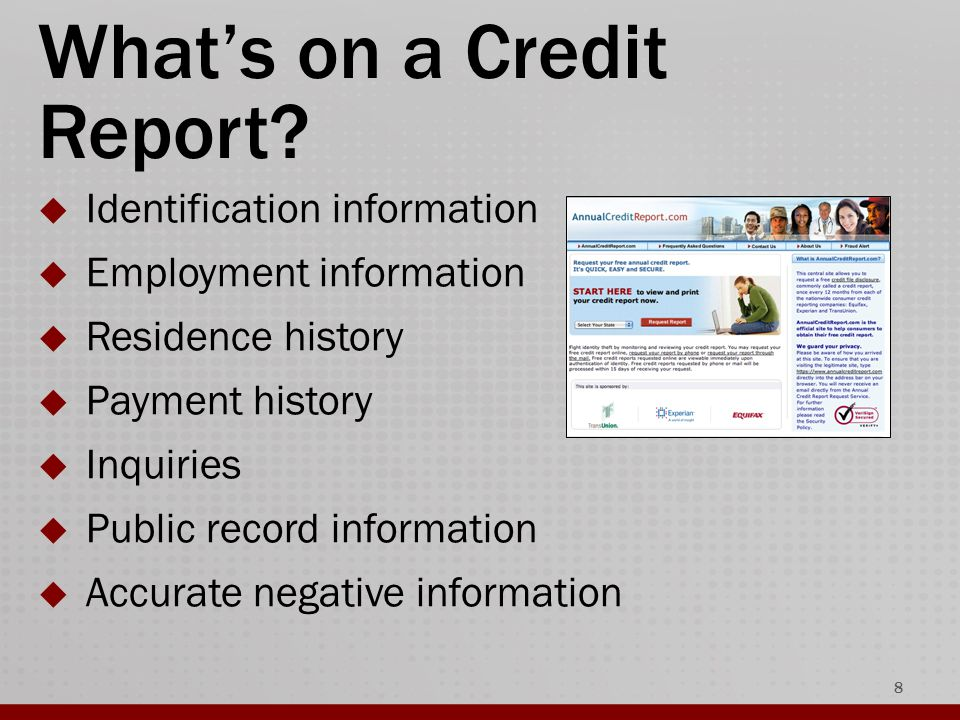 What's on a Credit Report.