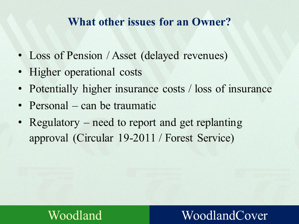 What are the Liability Risks for a Woodland Owner? RiskInsurance?Comment EmployeeYesLabour / labour only SC / Chainsaws PublicYesVisitors (not necessa