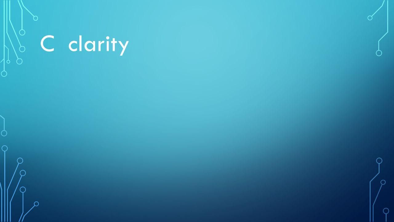 C clarity