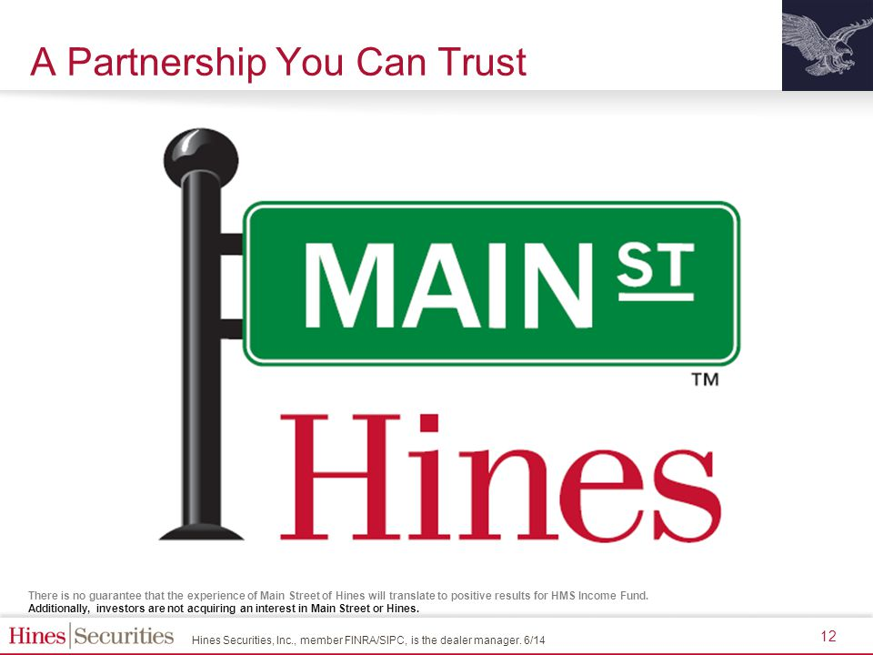Hines Securities, Inc., member FINRA/SIPC, is the dealer manager.
