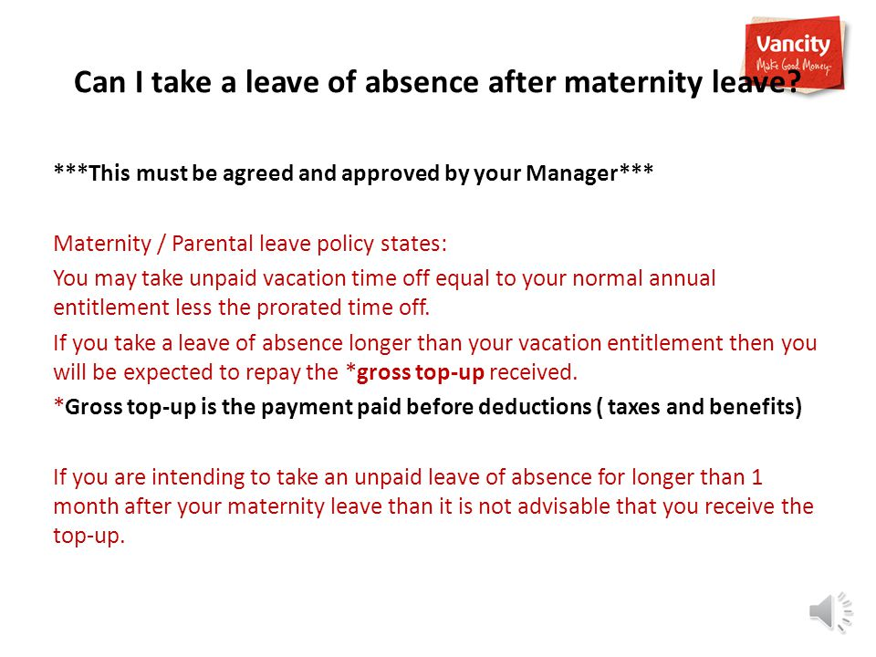 I was fulltime when I went on maternity leave and I received top-up.