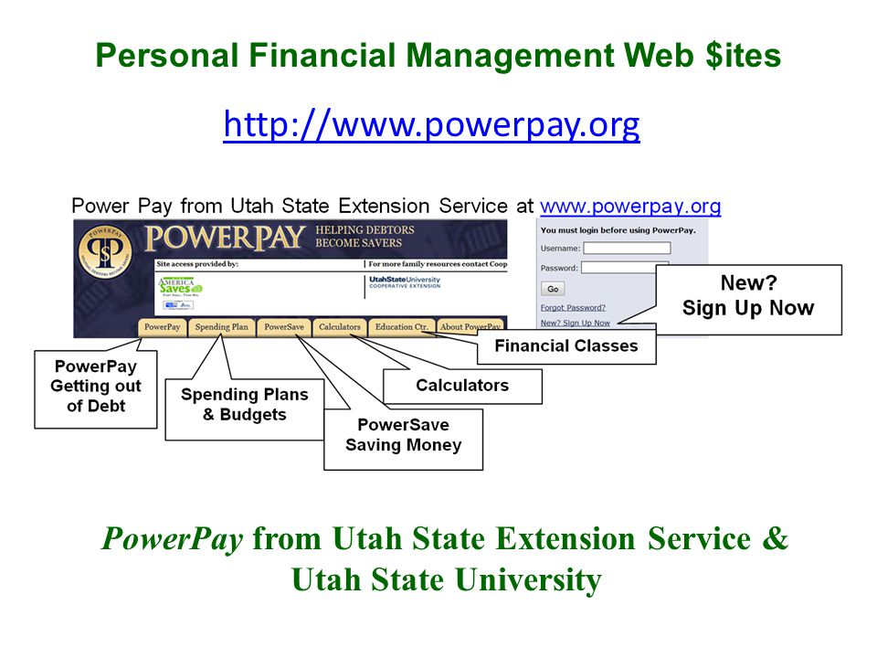 http://www.powerpay.org PowerPay from Utah State Extension Service & Utah State University