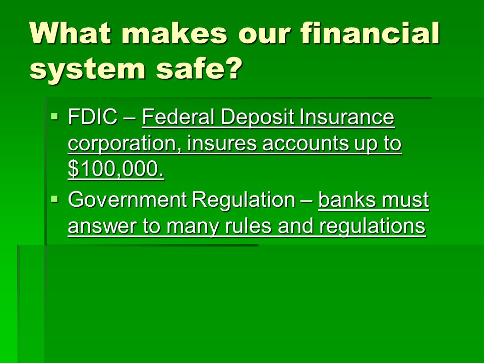 What is the Federal Reserve System?  When banks need money, they borrow from the Fed.