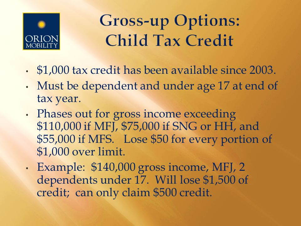 $1,000 tax credit has been available since 2003.