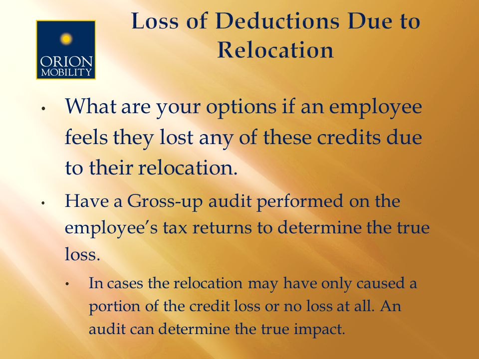 What are your options if an employee feels they lost any of these credits due to their relocation.