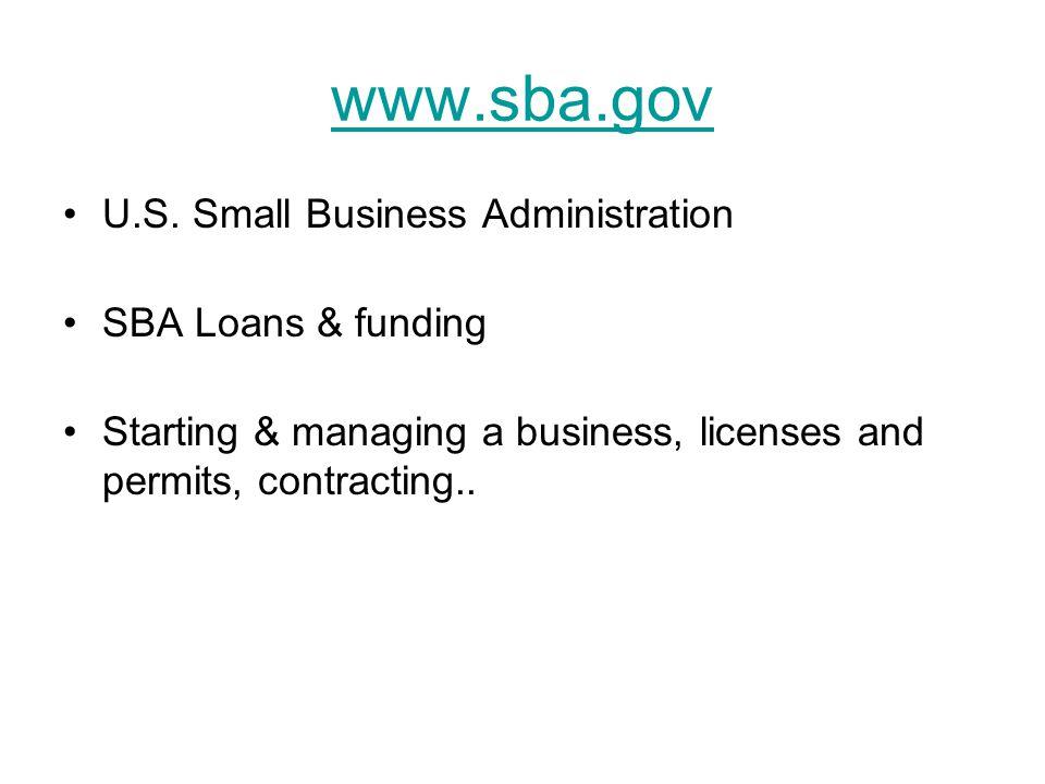 www.sba.gov U.S.