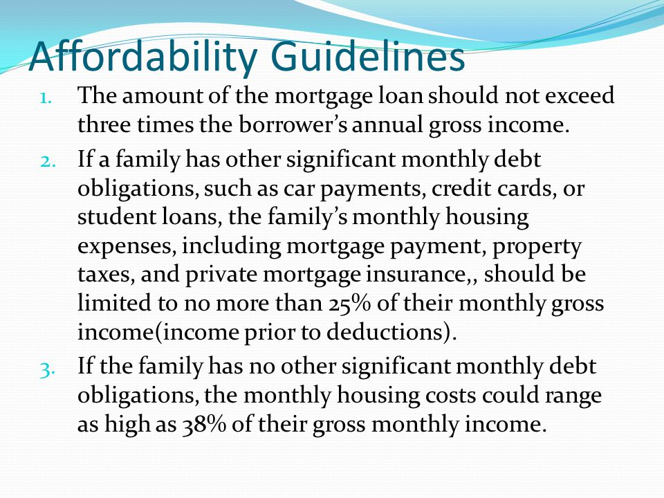 Affordability Guidelines 1.