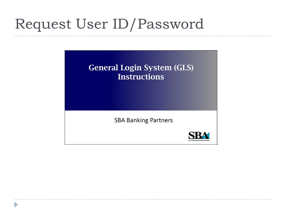 Request User ID/Password