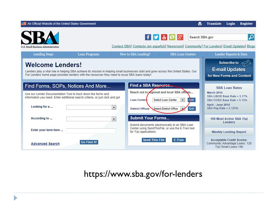 https://www.sba.gov/for-lenders