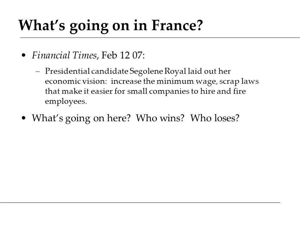What's going on in France.