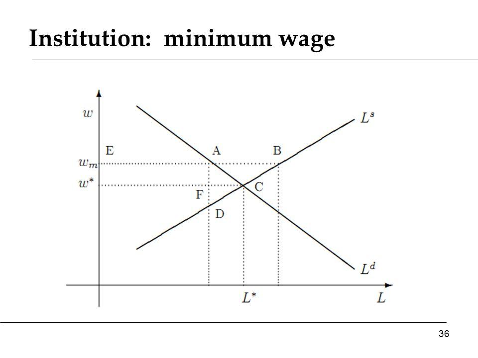 Institution: minimum wage 36