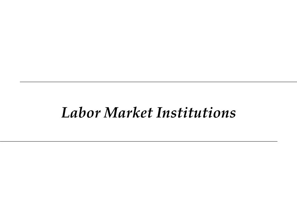 Labor Market Institutions