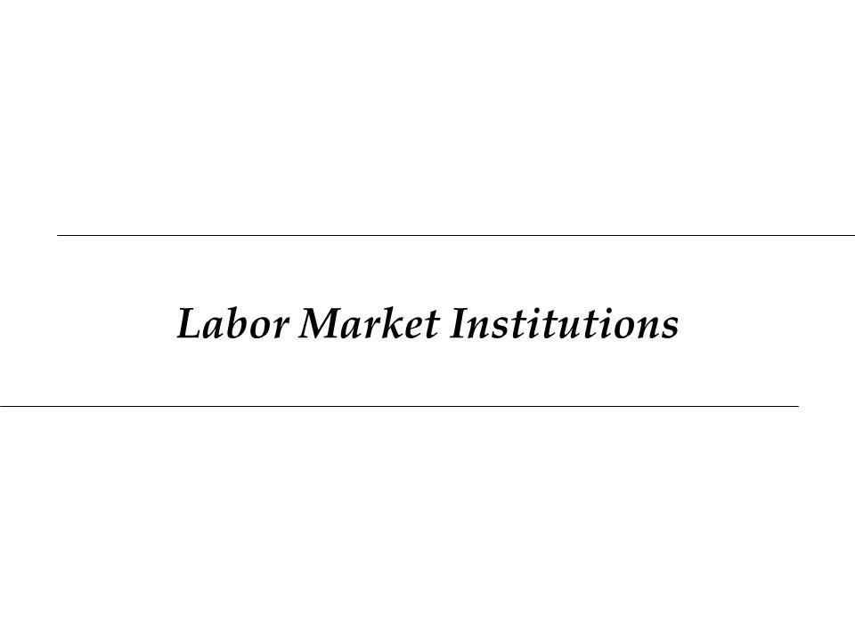 Labor Market Institutions