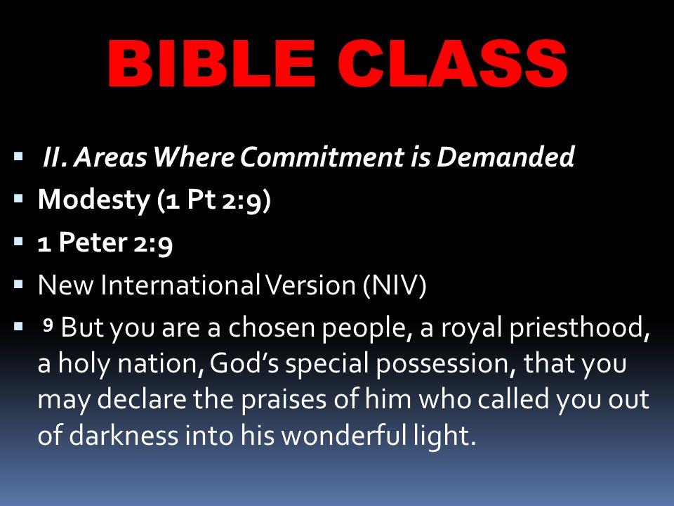 BIBLE CLASS  II.