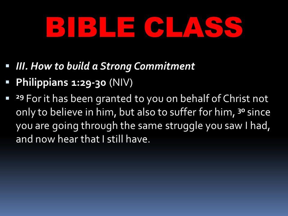 BIBLE CLASS  III.