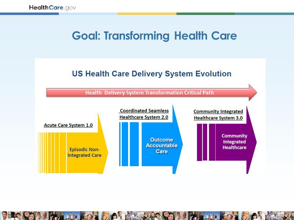 Goal: Transforming Health Care