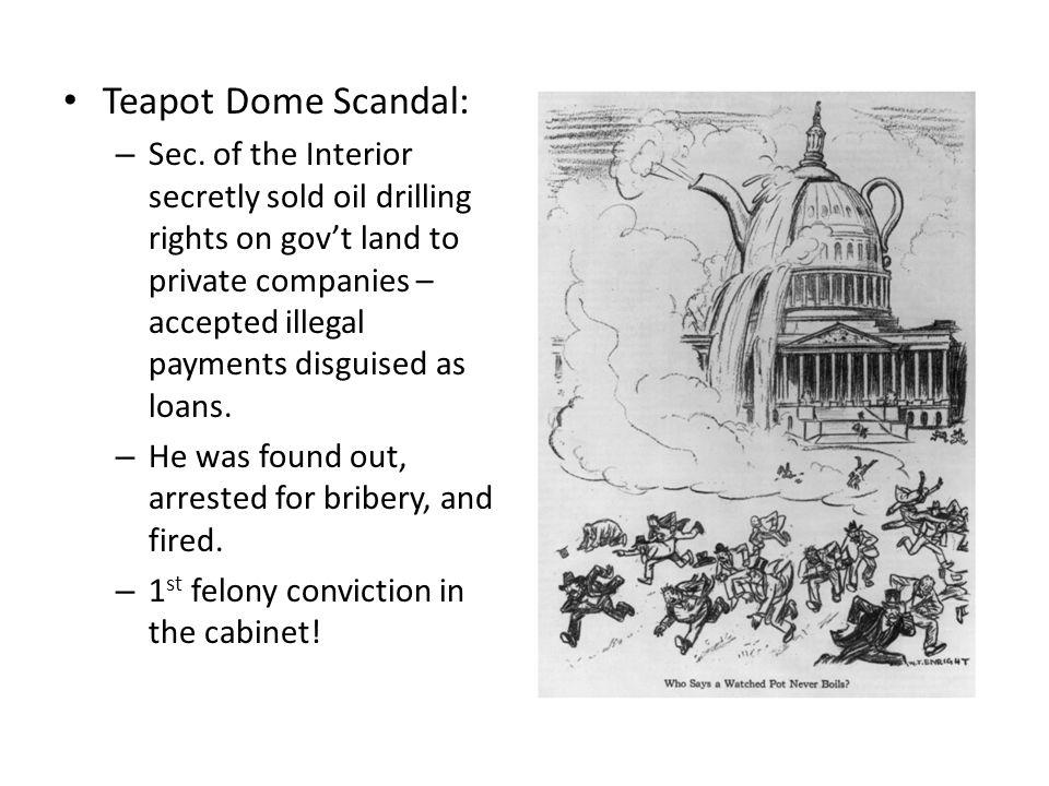Teapot Dome Scandal: – Sec.