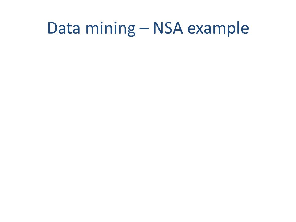 Data mining – NSA example