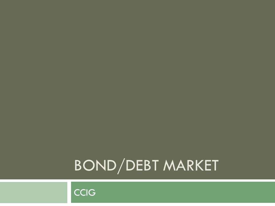 Who issues bonds.