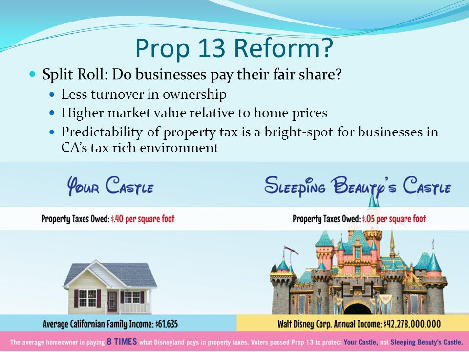 Prop 13 Reform. Split Roll: Do businesses pay their fair share.