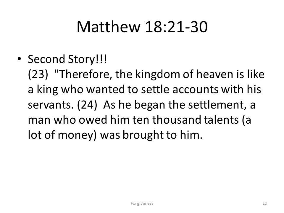 Matthew 18:21-30 Second Story!!! (23)
