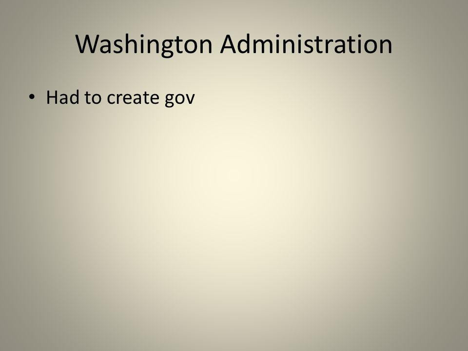 Adams Administration