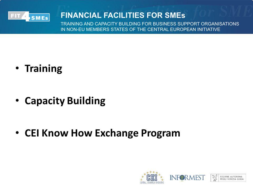 Training Capacity Building CEI Know How Exchange Program