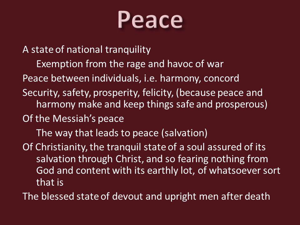 World Peace? Peace On The Job? Peace At Home? Internal Peace?
