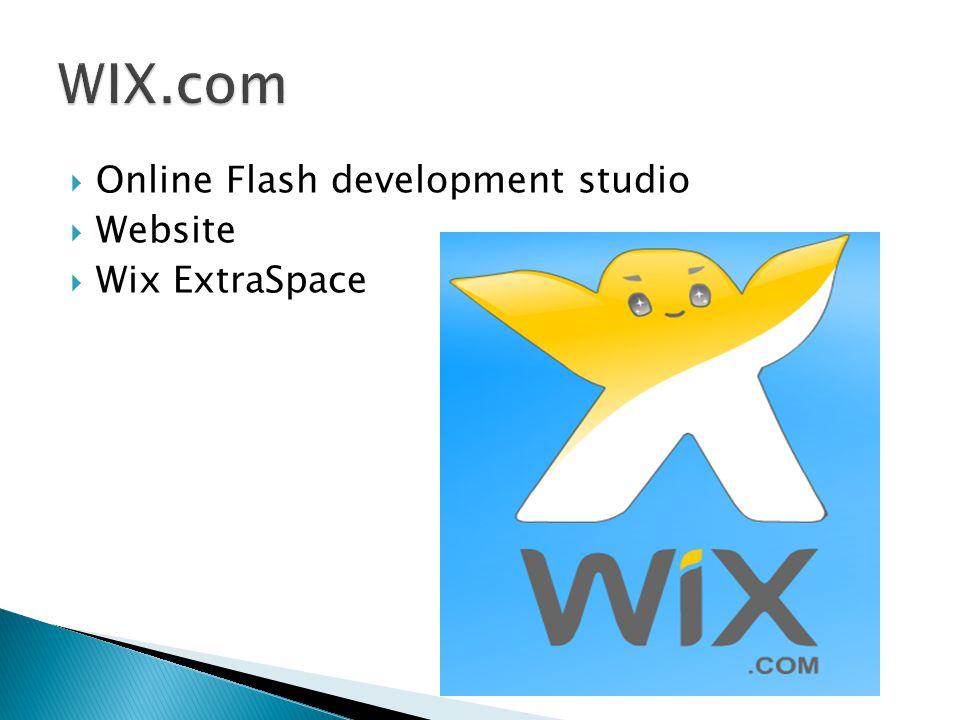  Online Flash development studio  Website  Wix ExtraSpace