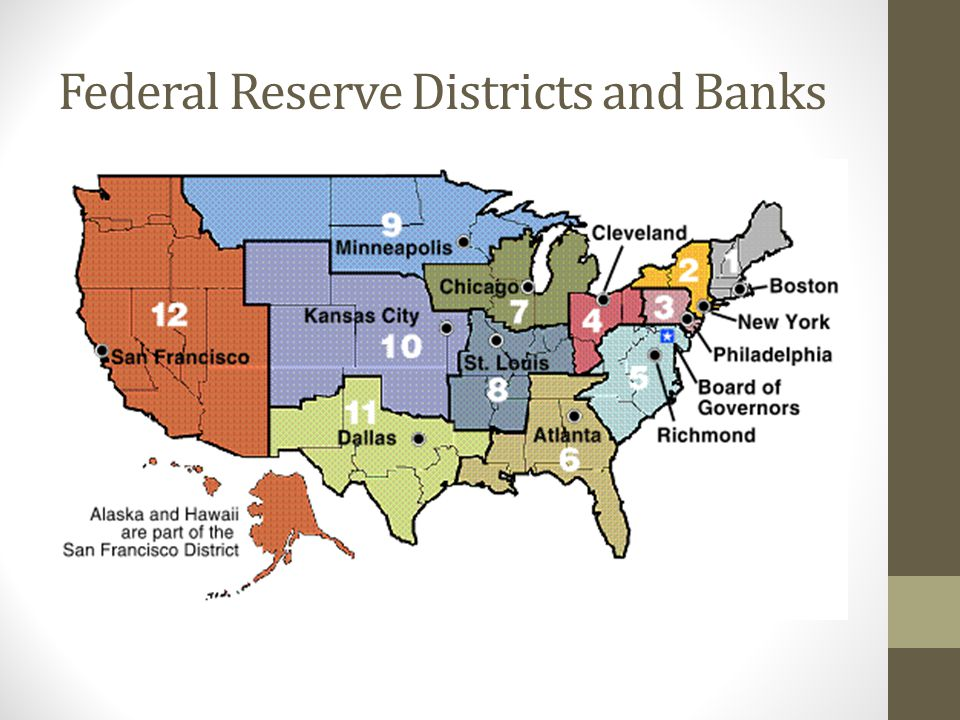 Federal Reserve Districts and Banks