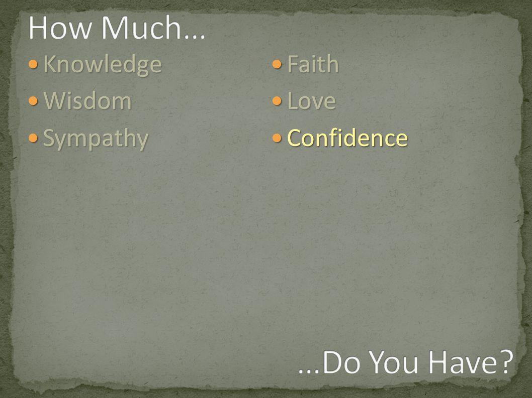 Knowledge Knowledge Wisdom Wisdom Sympathy Sympathy Faith Faith Love Love Confidence Confidence