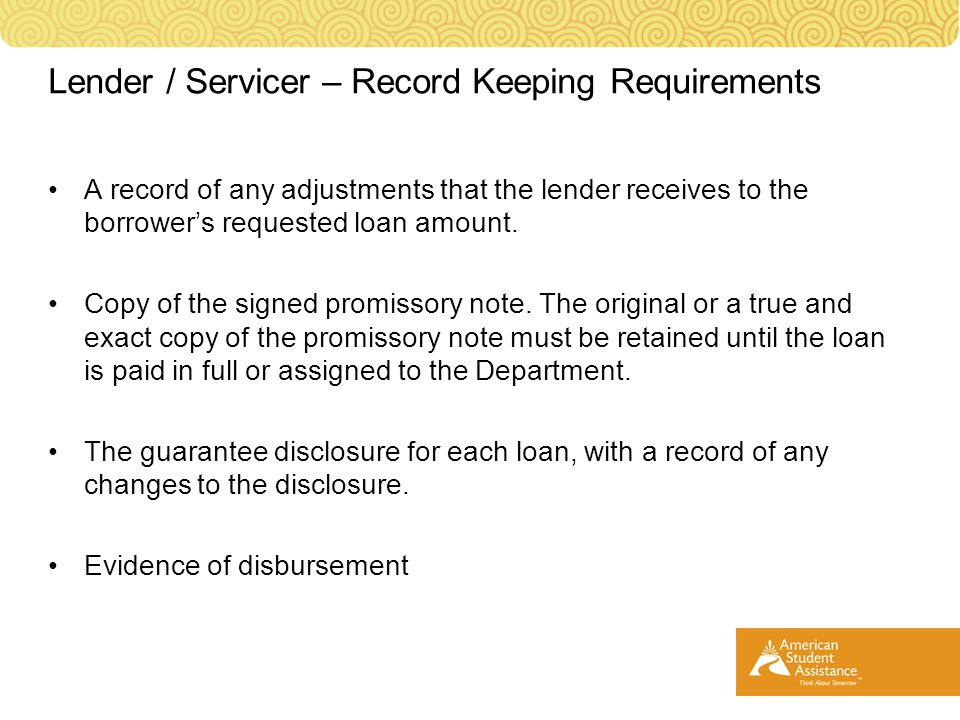 A record of any adjustments that the lender receives to the borrower's requested loan amount.