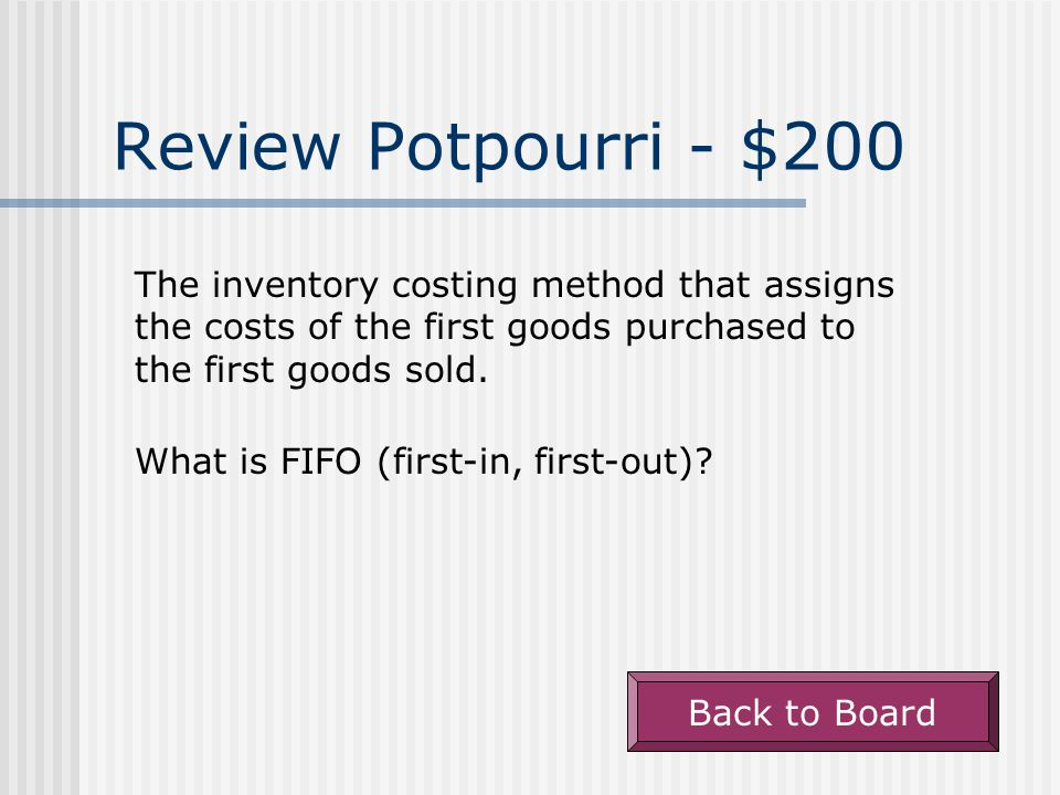 Review Potpourri - $100 Back to Board The section of the SCF under which an increase in long-term debt is reported.
