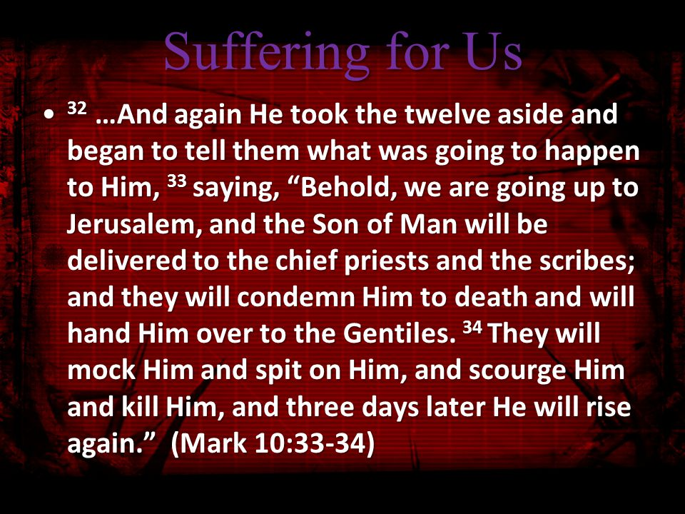 Suffering for Christ If you are reviled for the name of Christ, you are blessed, because the Spirit of glory and of God rests on you.