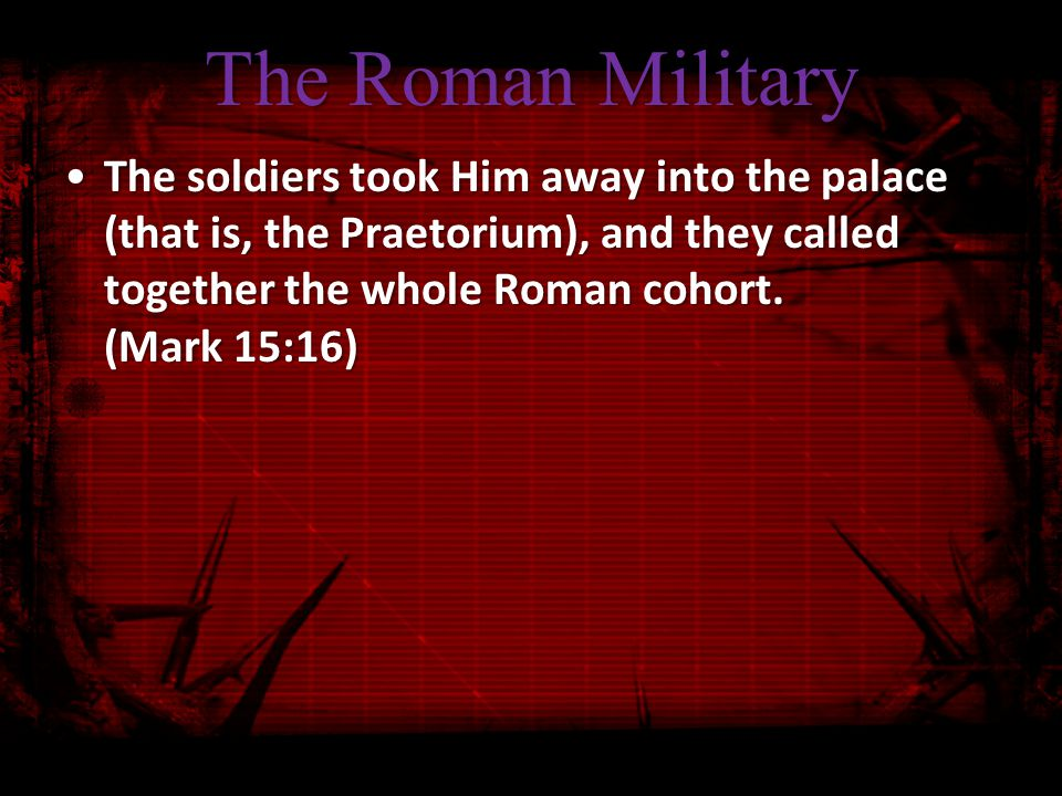 All Hail the King 17 They dressed Him up in purple, and after twisting a crown of thorns, they put it on Him; 18 and they began to acclaim Him, Hail, King of the Jews! 19 They kept beating His head with a reed, and spitting on Him, and kneeling and bowing before Him.