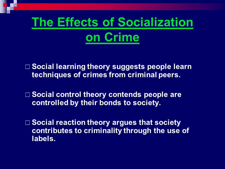 Social Reaction Theory: Differential Enforcement This theory holds that the law is differentially applied – it favors those in power in a particular society.