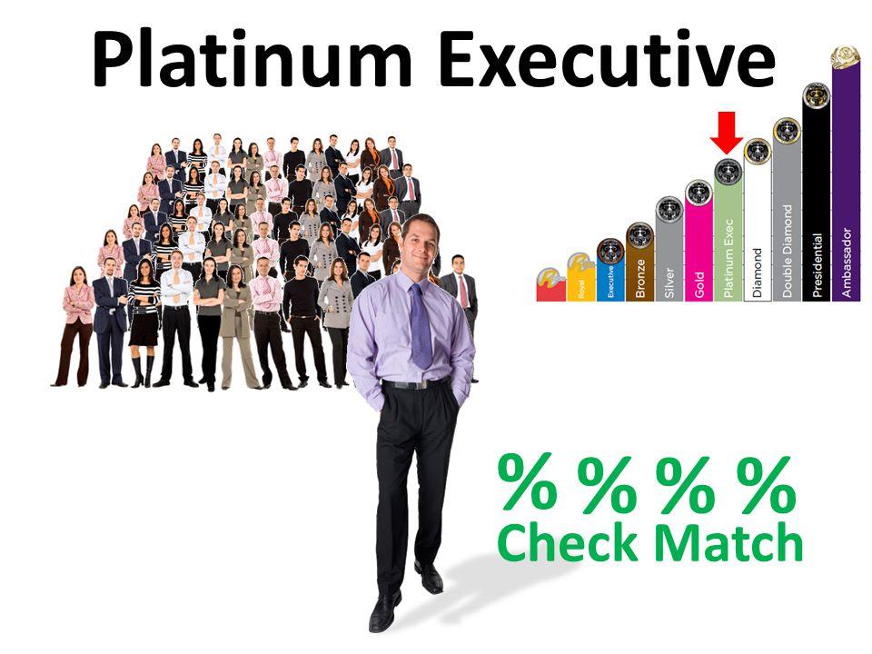 % Check Match Platinum Executive % % % %