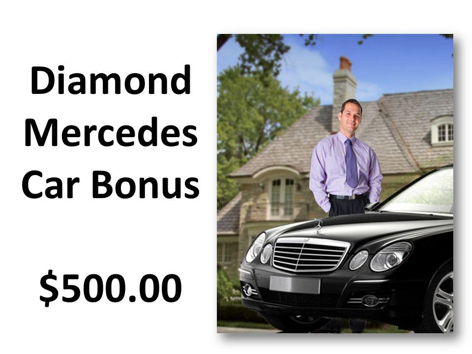 Diamond Mercedes Car Bonus $500.00