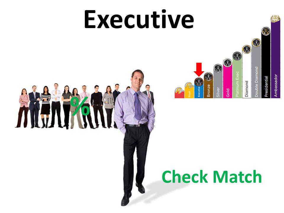 Executive % Check Match