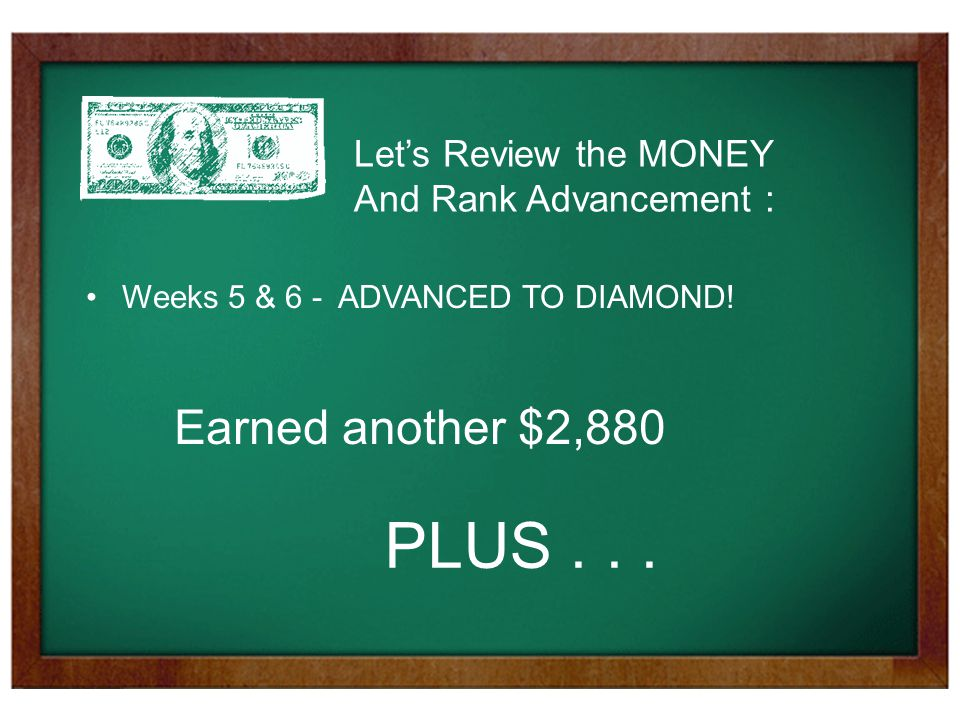 Let's Review the MONEY And Rank Advancement : Weeks 5 & 6 - ADVANCED TO DIAMOND! Earned another $2,880 PLUS...