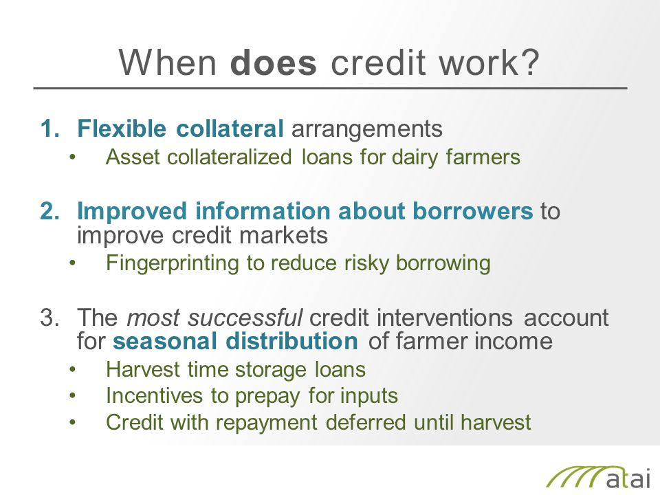 When does credit work.