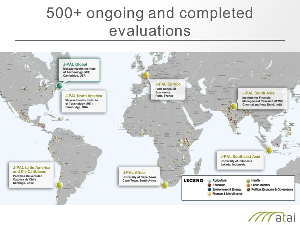 500+ ongoing and completed evaluations