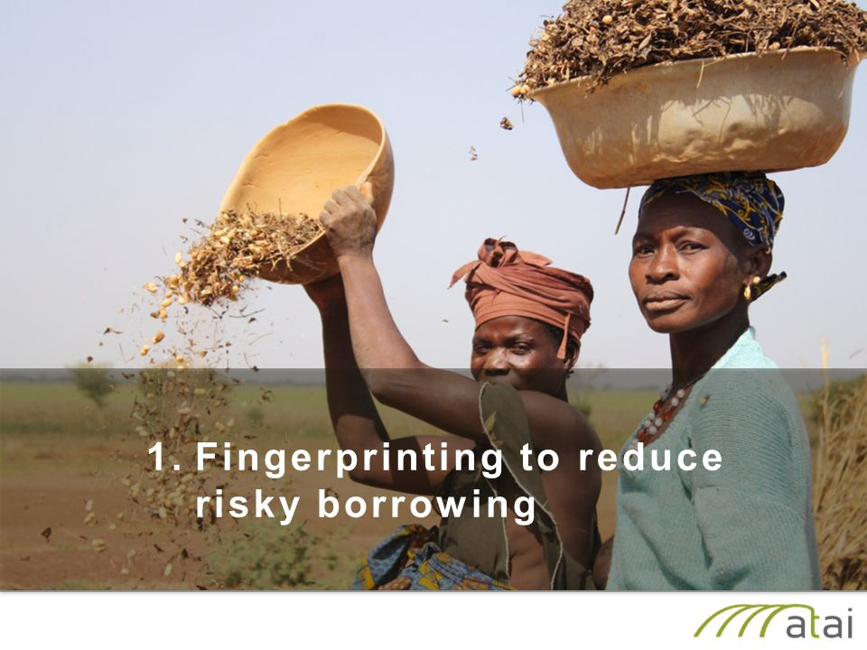 1.Fingerprinting to reduce risky borrowing