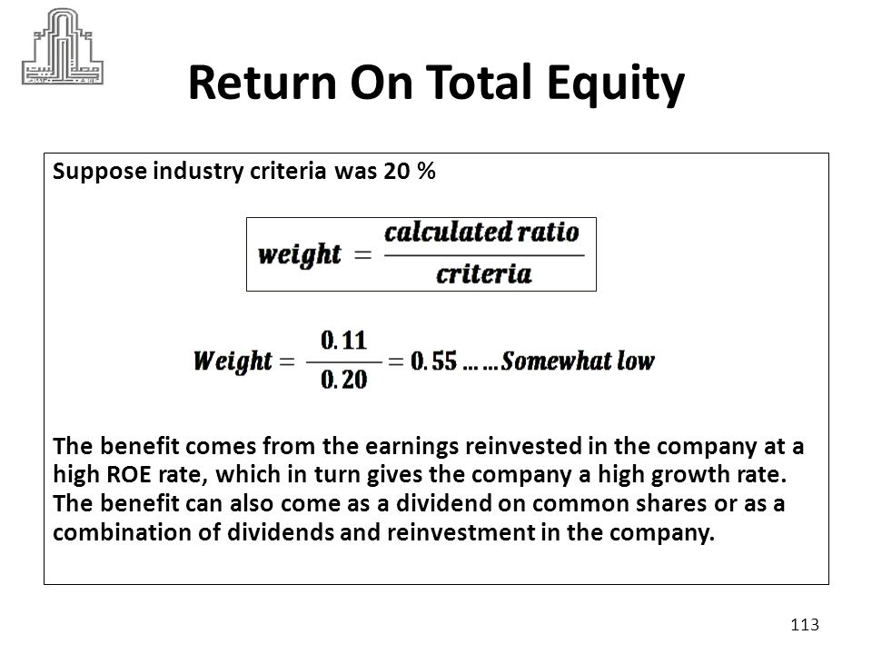 Return On Total Assets often called the return on investment (ROI), measures the overall effectiveness of management in generating profits with its available assets.