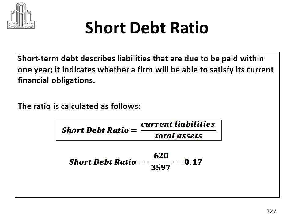 Long Debt Ratio Long debt ratio an indication of what portion of a company s total assets is financed from long term debt.