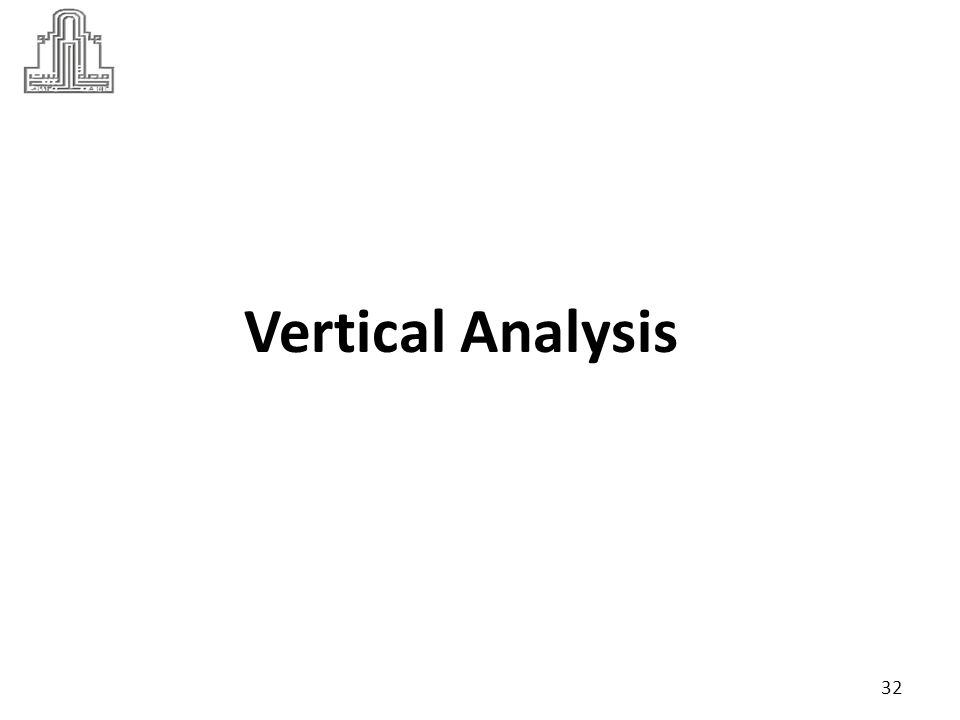 The vertical analysis compares each separate figure to one specific figure in the financial statement.