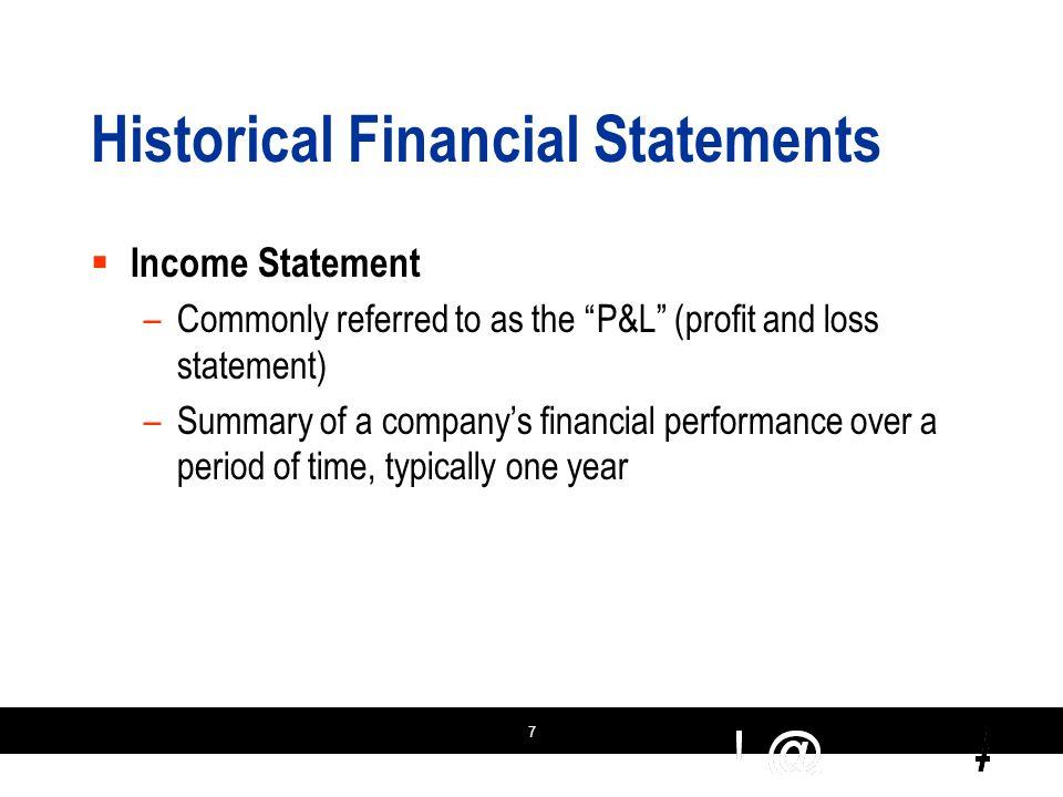 18 Prospective Financial Statements